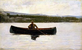 Playing a Fish, c.1875/95 by Winslow Homer | Painting Reproduction
