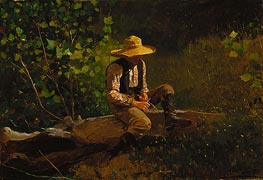 The Whittling Boy, 1873 by Winslow Homer | Painting Reproduction