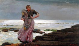 A Light on the Sea, 1897 by Winslow Homer | Painting Reproduction