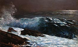 Sunlight on the Coast, 1890 by Winslow Homer | Painting Reproduction