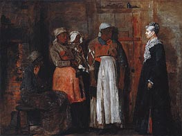 A Visit from the Old Mistress, 1876 von Winslow Homer | Gemälde-Reproduktion