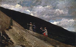 In the Mountains, 1877 by Winslow Homer | Painting Reproduction