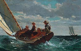 Breezing Up (A Fair Wind), c.1873/76 by Winslow Homer | Painting Reproduction