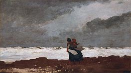 Two Figures by the Sea, 1882 von Winslow Homer | Gemälde-Reproduktion
