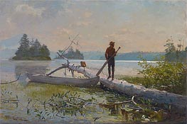An Adirondack Lake (The Trapper) | Winslow Homer | Painting Reproduction