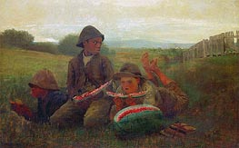 The Watermelon Boys, 1876 by Winslow Homer | Painting Reproduction