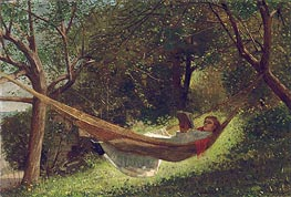 Girl in the Hammock, 1873 by Winslow Homer | Painting Reproduction