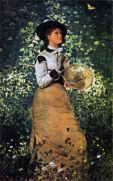 The Butterfly Girl, 1878 by Winslow Homer | Painting Reproduction