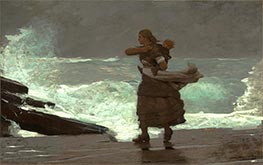 The Gale | Winslow Homer | Gemälde Reproduktion