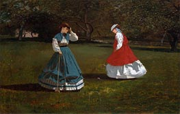 A Game of Croquet, 1866 by Winslow Homer | Painting Reproduction