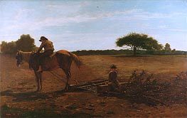 The Brush Harrow, 1865 by Winslow Homer | Painting Reproduction