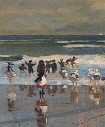 Beach Scene | Winslow Homer | Painting Reproduction