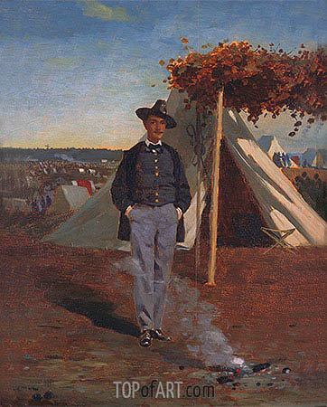 Portrait of Albert Post, 1866 | Winslow Homer | Painting Reproduction