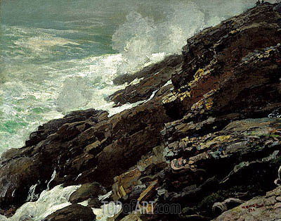 High Cliff, Coast of Maine, 1894 | Winslow Homer | Painting Reproduction
