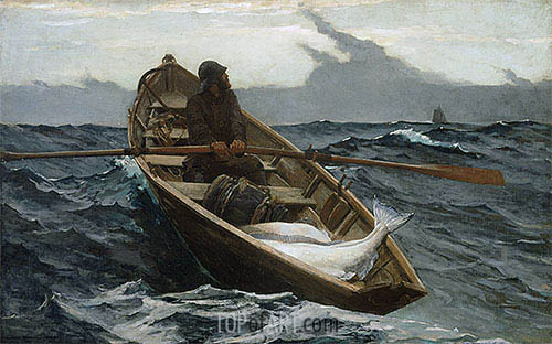 The Fog Warning, 1885 | Winslow Homer | Gemälde Reproduktion