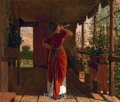 The Dinner Horn, 1873 | Winslow Homer | Painting Reproduction