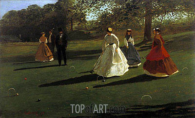 Croquet Players, 1865 | Winslow Homer | Painting Reproduction