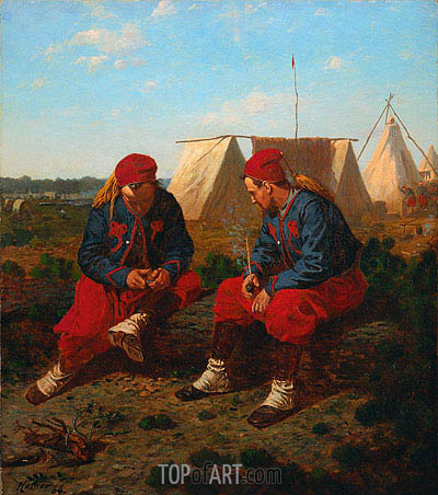 The Briarwood Pipe, 1864 | Winslow Homer | Painting Reproduction