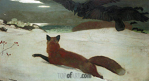 Fox Hunt, 1893 | Winslow Homer | Painting Reproduction