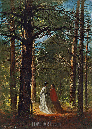 Waverly Oaks, 1864 | Winslow Homer | Painting Reproduction
