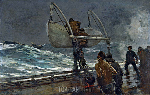 The Signal of Distress, 1890 | Winslow Homer | Painting Reproduction