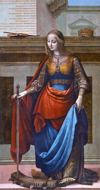 Saint Catherine, c.1510 | Fernando Yáñez | Painting Reproduction