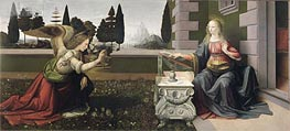The Annunciation, c.1472/75 by Leonardo da Vinci | Painting Reproduction