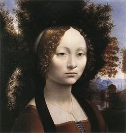Portrait of Ginevra de' Benci | Leonardo da Vinci | Painting Reproduction
