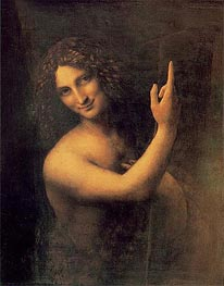 St John the Baptist, c.1513/16 by Leonardo da Vinci | Painting Reproduction
