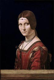 La Belle Ferronniere (Portrait of a Lady from the Court of Milan) | Leonardo da Vinci | Painting Reproduction