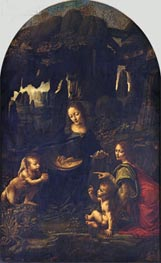 The Virgin of the Rocks, c.1483/86 by Leonardo da Vinci | Painting Reproduction
