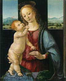 The Dreyfus Madonna (Madonna with a Pomegranate) | Leonardo da Vinci | Painting Reproduction