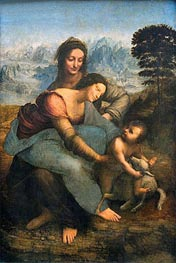 Virgin and Child with St. Anne | Leonardo da Vinci | Painting Reproduction