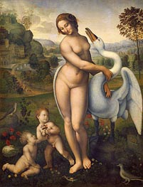 Leda and the Swan | Leonardo da Vinci | Gemälde Reproduktion