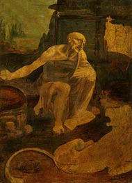 Saint Jerome in the Wilderness | Leonardo da Vinci | Painting Reproduction