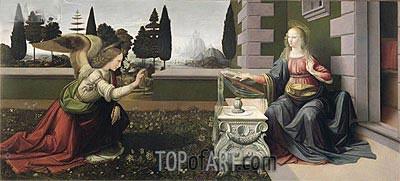 Die Verkündigung, c.1472/75 | Leonardo da Vinci | Gemälde Reproduktion