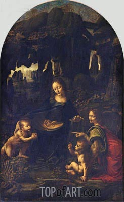 The Virgin of the Rocks, c.1483/86 | Leonardo da Vinci | Painting Reproduction