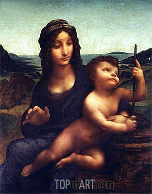 Madonna of the Yarnwinder, c.1501/07 | Leonardo da Vinci | Painting Reproduction
