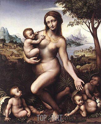 Leda and Her Children, c.1508/13 | Leonardo da Vinci | Painting Reproduction