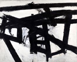 Mahoning (Franz Kline), 1956 von Custom Paintings | Gemälde-Reproduktion