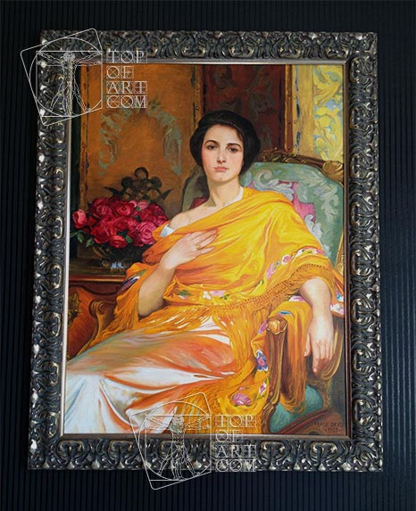 Painting Reproduction Dicksee Portrait of Elsa