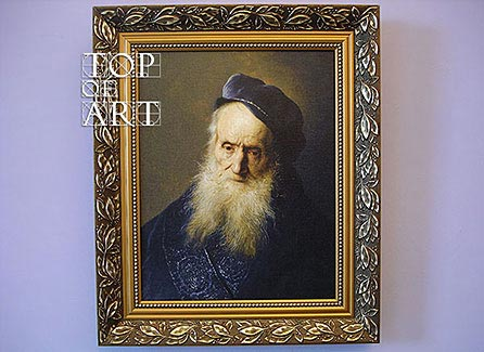 """framed painting """"A Tronie of an Old Man"""" by Jan Lievens"""