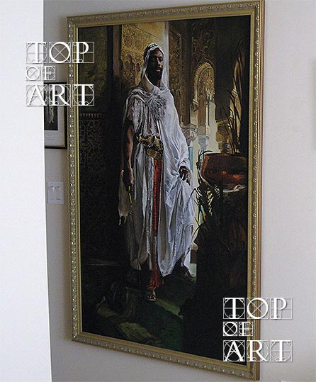 "Framed Oil Painting Reproduction of ""The Moorish Chief"" by Charlemont"
