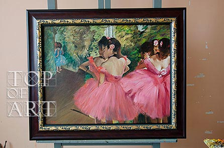 Framed painting Dancers in Pink by Degas
