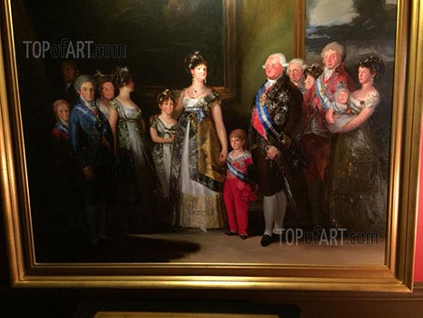 The Family of Charles IV by Goya framed