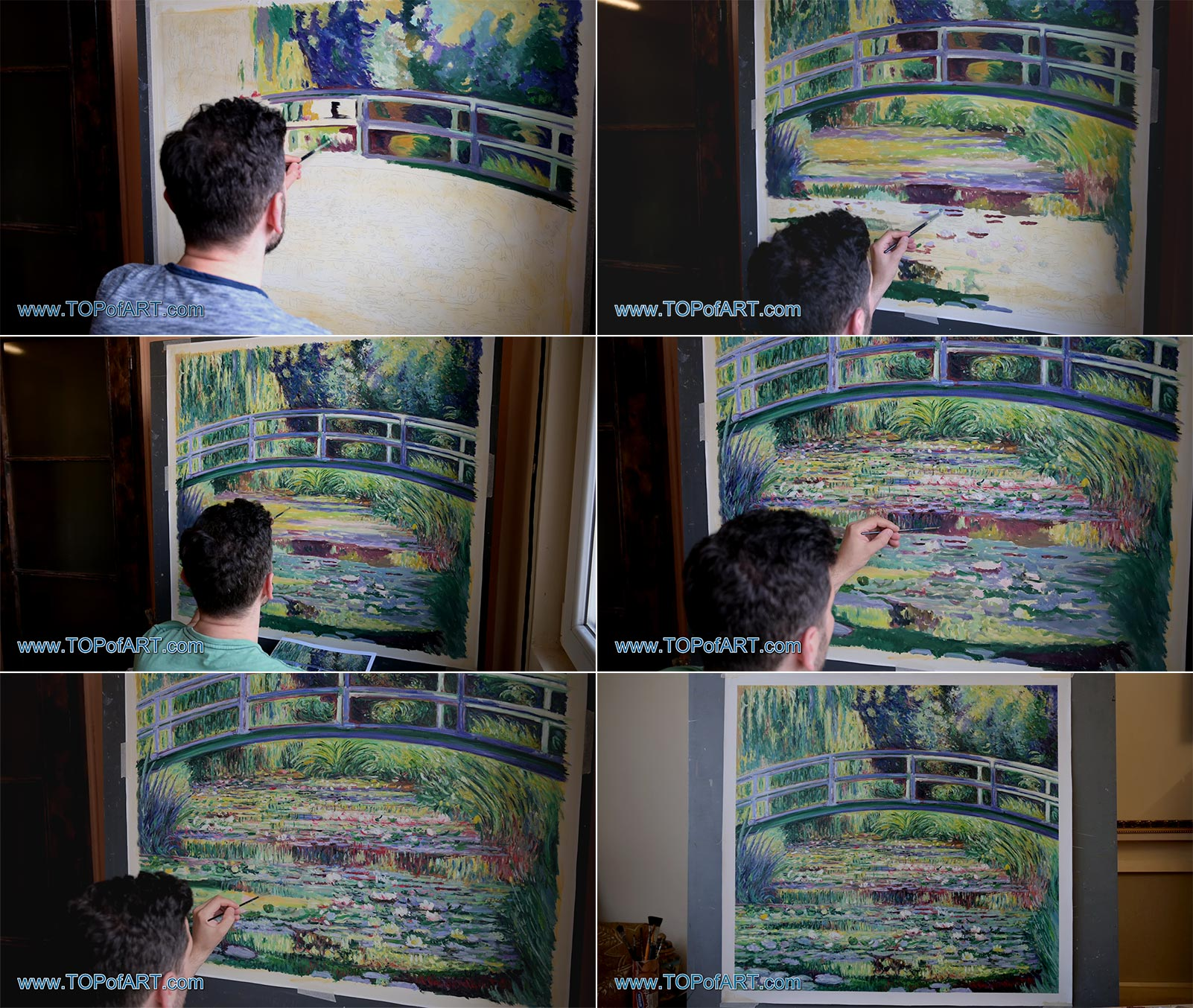 Symphony in Green by Claude Monet - Painting Reproduction