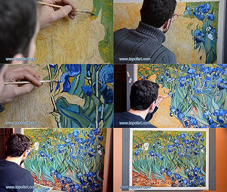 Irises by Vincent van Gogh - Painting Reproduction
