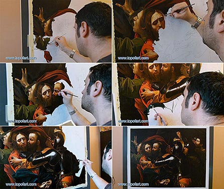 The Betrayal of Christ by Caravaggio - Painting Reproduction