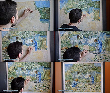 First Steps by van Gogh - Painting Reproduction