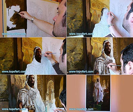 The Moorish Chief by Charlemont - Painting Reproduction